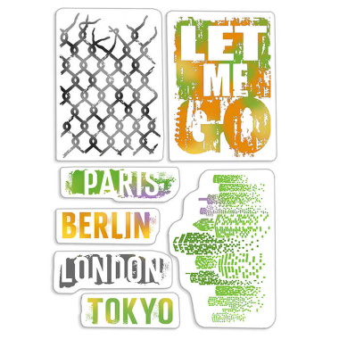 """Ciao Bella - Let me go- CLEAR STAMP SET 4""""X6"""" -"""