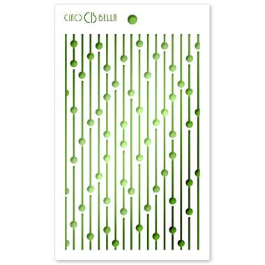 """Ciao Bella - Stencil - 5 x 8 """" Bead Curtain"""