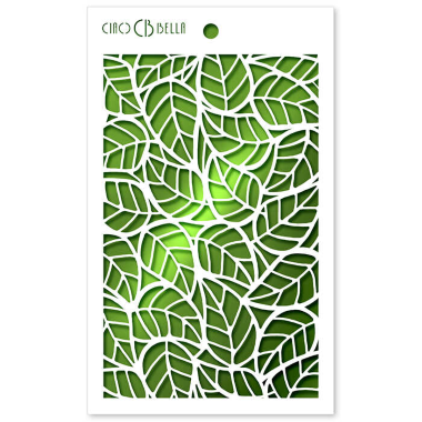 """Ciao Bella - Stencil - 5 x 8 """" Leaves"""