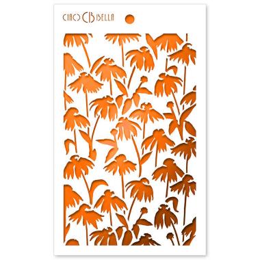 """Ciao Bella - Stencil - 5 x 8 """" Daisies"""