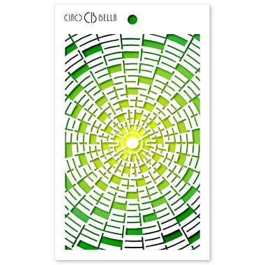 """Ciao Bella - Stencil - 5 x 8 """" Concentric"""