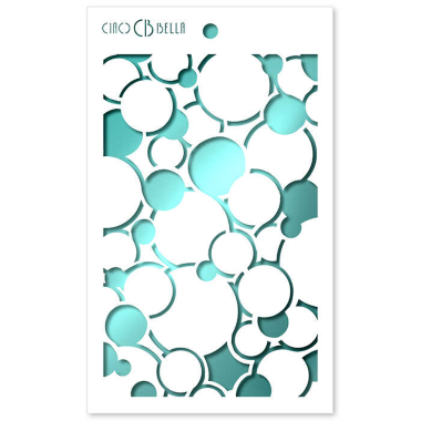 """Ciao Bella - Stencil - 5 x 8 """" Bubbles"""