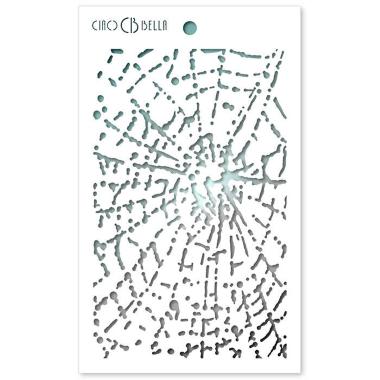 """Ciao Bella - Stencil - 5 x 8 """" Spider Net"""