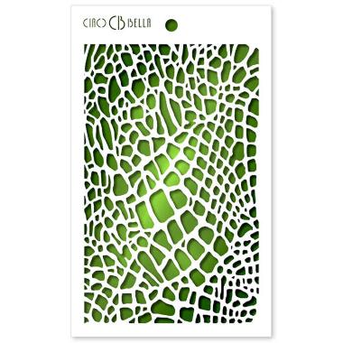 """Ciao Bella - Stencil - 5 x 8 """" Crocodile"""