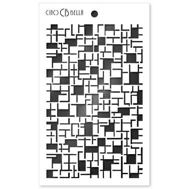"""Ciao Bella - Stencil - 5 x 8 """" Crossword"""