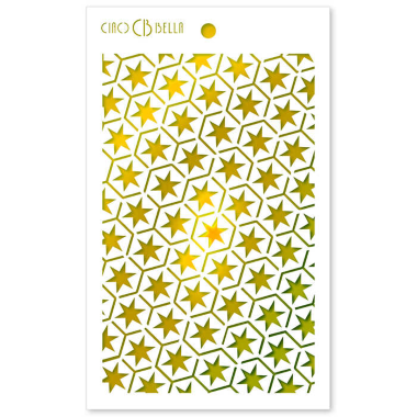 """Ciao Bella - Stencil - 5 x 8 """" Star six"""