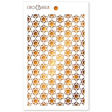 """Ciao Bella - Stencil - 5 x 8 """" Double star"""