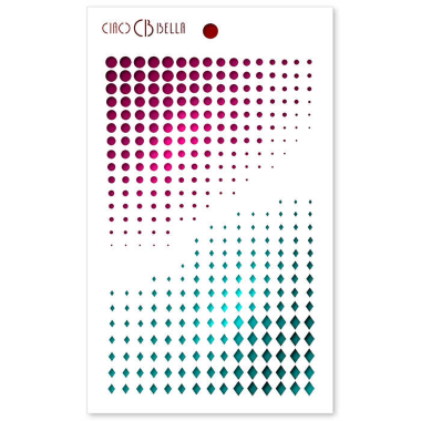 """Ciao Bella - Stencil - 5 x 8 """" Dots & Diamonds"""