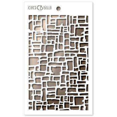 Ciao Bella - Stencil - 5 x 8 2 Abstract Bricks