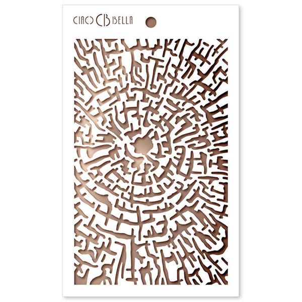 Ciao Bella - Stencil - 5 x 8  Cross Section