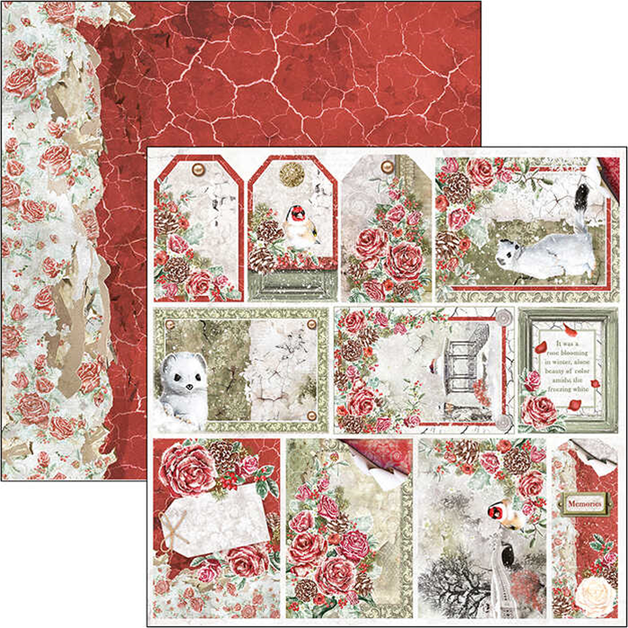 """Frozen Roses Frames & Tags Double-Sided Paper Sheet 12""""x12"""" CIAO BELLA"""