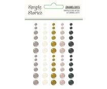 Simple Stories Happily Ever After Enamel Dot