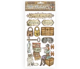 Stamperia Chipboard 15x30cm Lady Vagabond