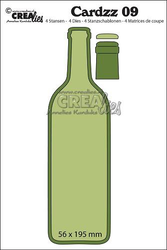 Crealies - Cardzz dies no. 9, Bottle of wine