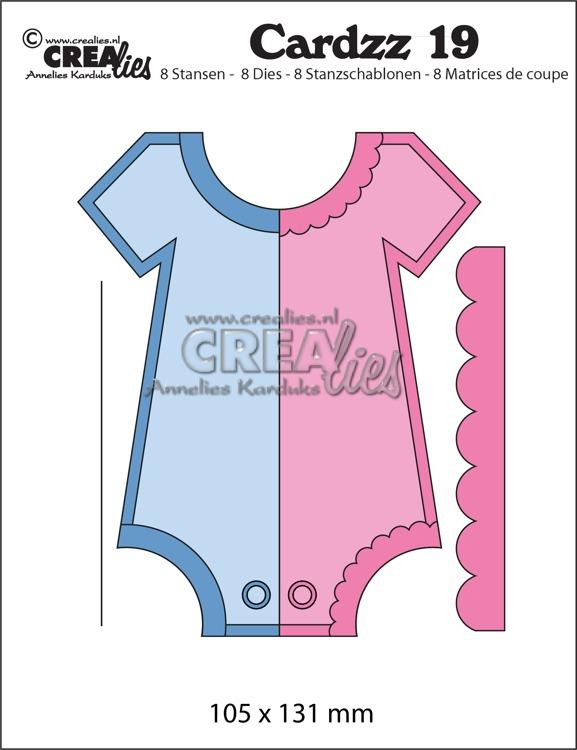 Crealies - Baby body CLCZ19