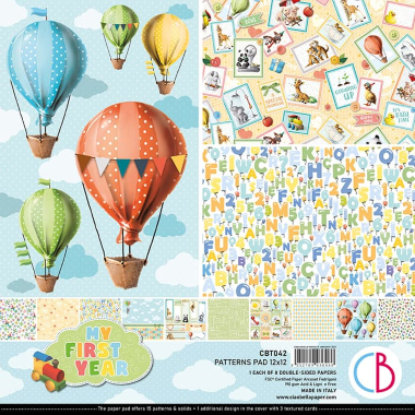 """Ciao Bella - MY FIRST YEAR  -PAPER  PATTERN PAD 12""""X12"""" 12/PKG"""