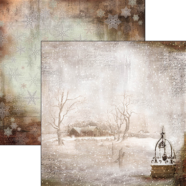"""Ciao Bella-  Winter is the time for home Double-Sided Paper Sheet 12""""x12"""""""