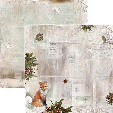 """Ciao Bella-  When snow falls nature listens - Double-Sided Paper Sheet 12""""x12"""""""