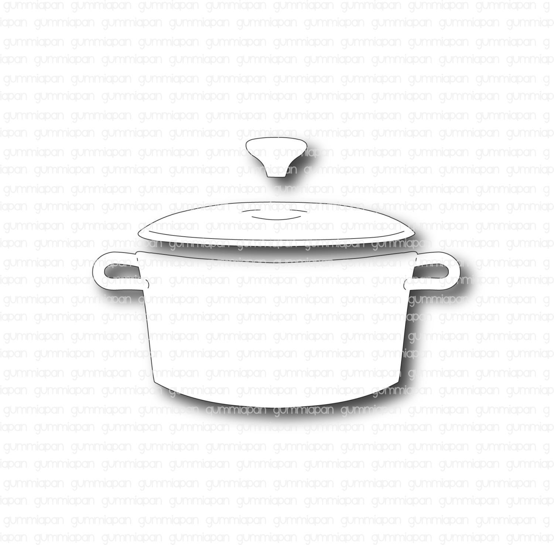Gummiapan - Gryte med lokk-Dies