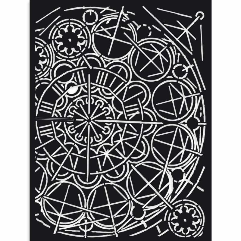 Stamperia Thick Stencil 15 x 20 cm Sir Vagabond geometry