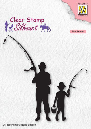 Nellies Choice - Clearstamp - Silhouette Fisherman