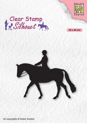 Nellies Choice - Clearstamp - Silhouette Horseman