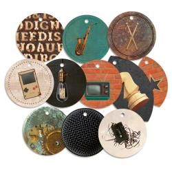 P13 Free Spirit Double-Sided Cardstock Die-Cuts - Decorative Tags