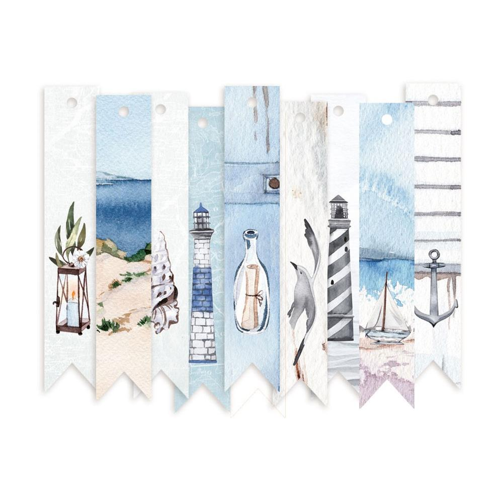 P13 - Beyond The Sea Double-Sided Cardstock Tags 9/Pkg