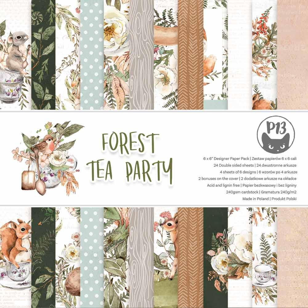 """P13 - Forest Tea Party - Double-Sided Paper Pad 6""""X6"""