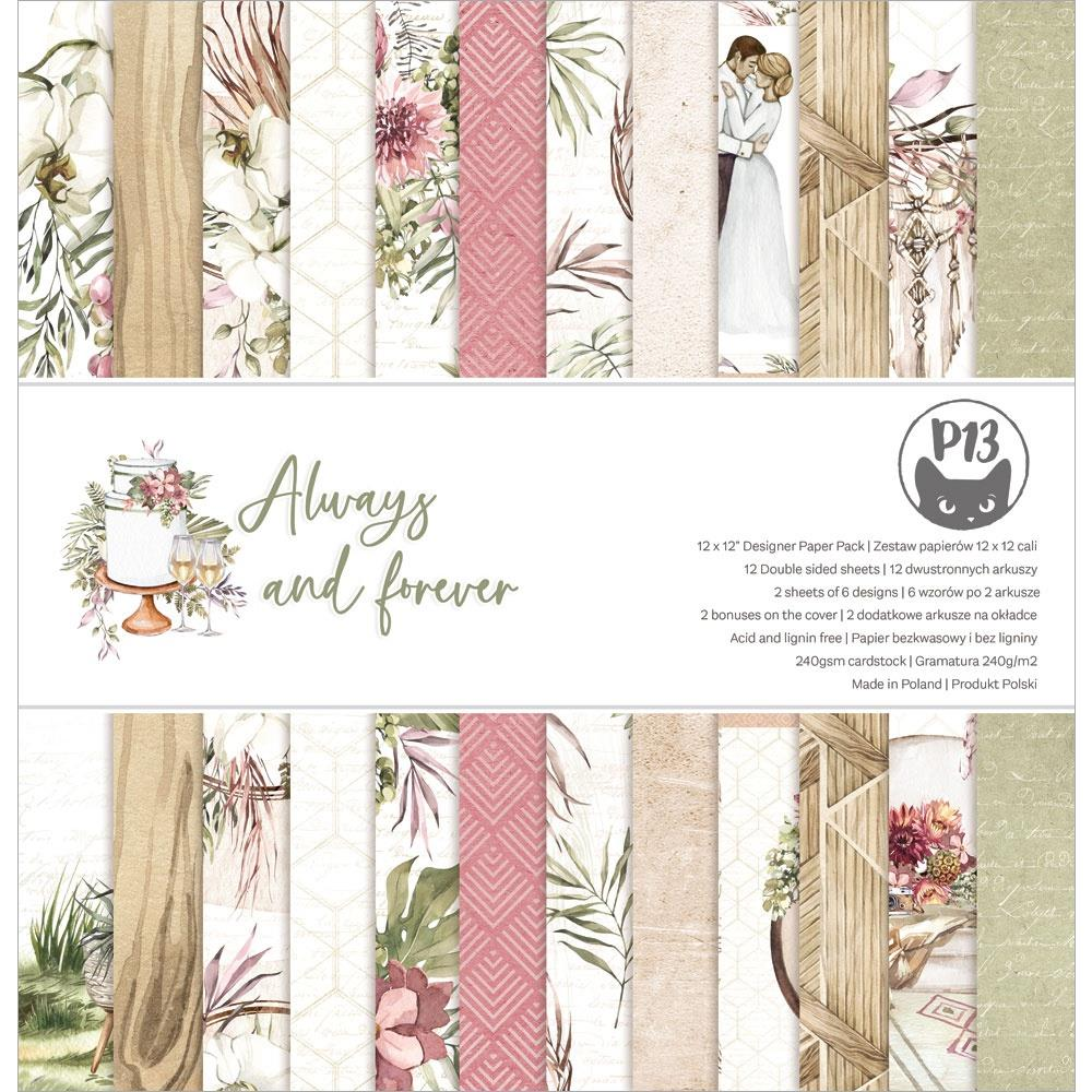 """P13 - Always & Forever - Double-Sided Paper Pad 12""""X12"""" 12/Pkg"""