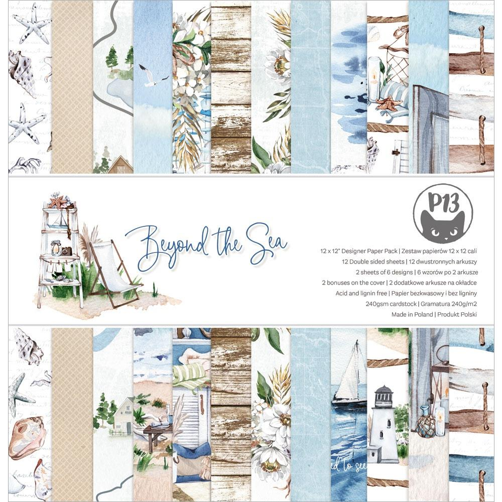 """P13 - Beyond The Sea - Double-Sided Paper Pad 12""""X12"""" 12/Pkg"""