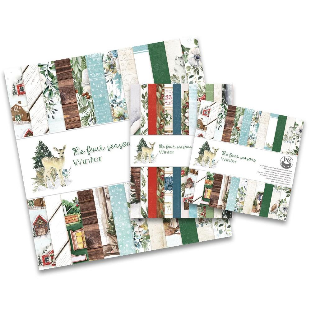 """P13 - The Four Seasons-Winter - Double-Sided Paper Pad 12""""X12"""" 12/Pkg"""