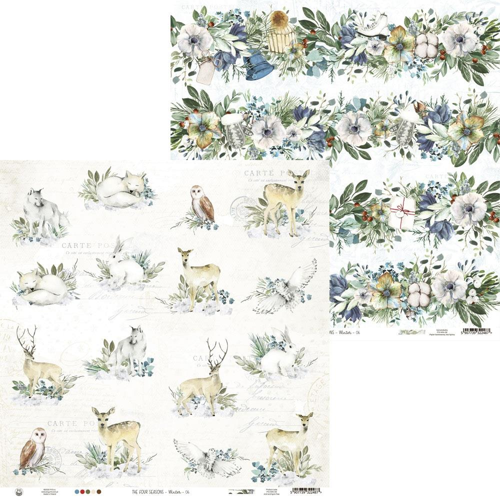"""P13 -""""The four seasons Winter 12x12 - Double-Sided Paper 12""""X12"""" # 06"""