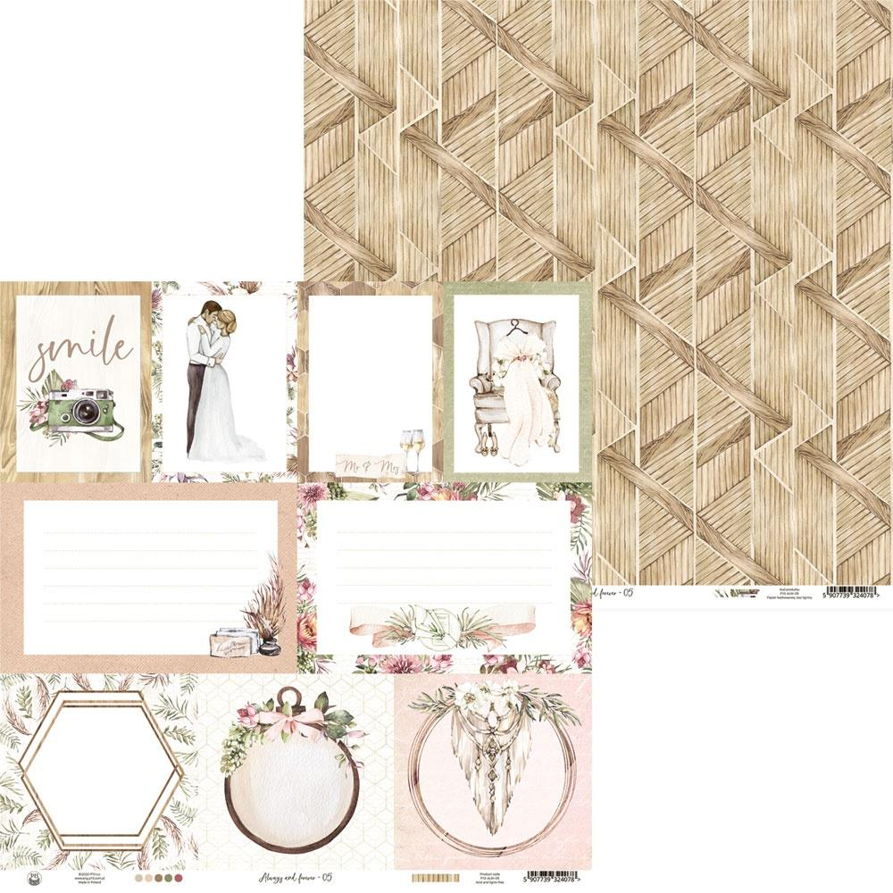 """P13 -Always & Forever 12x12 - Double-Sided Paper 12""""X12"""" # 05"""