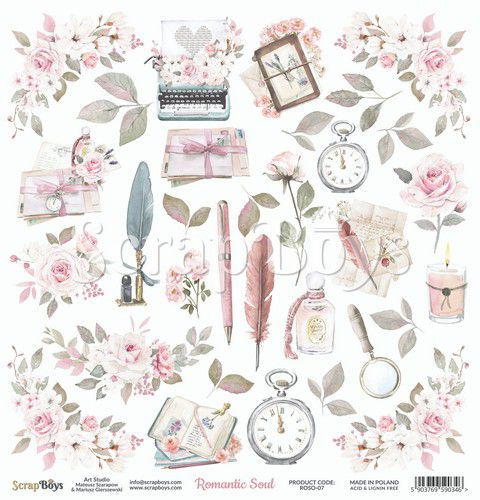 ScrapBoys - Romantic soul #07  12 x 12  Klippeark