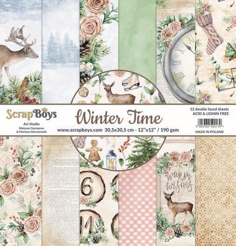 "Scrapboys - Winter time- Paper Pad - 6 x 6"""