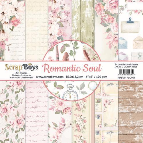 "Scrapboys - Romantic Soul - Paper Pad - 6 x 6 """
