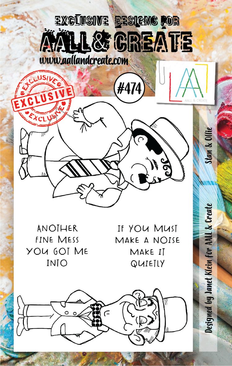 AAll&Create - Stan & Ollie- #474- A7 STAMP -