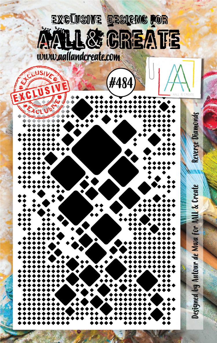 AAll&Create - Reverse Diamounds- #484- A7 STAMP -