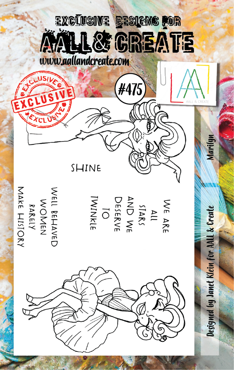 AAll&Create - Marilyn- #475- A7 STAMP -