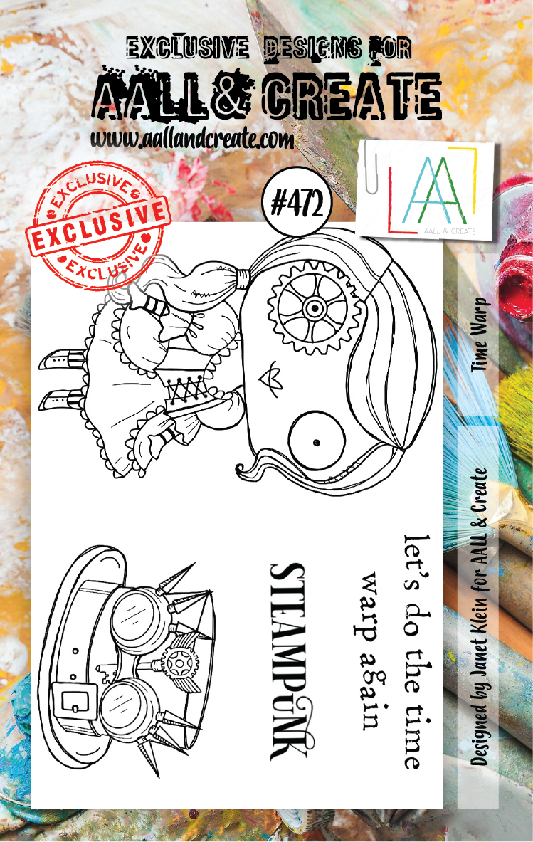 AAll&Create - Time warp- #472- A7 STAMP -