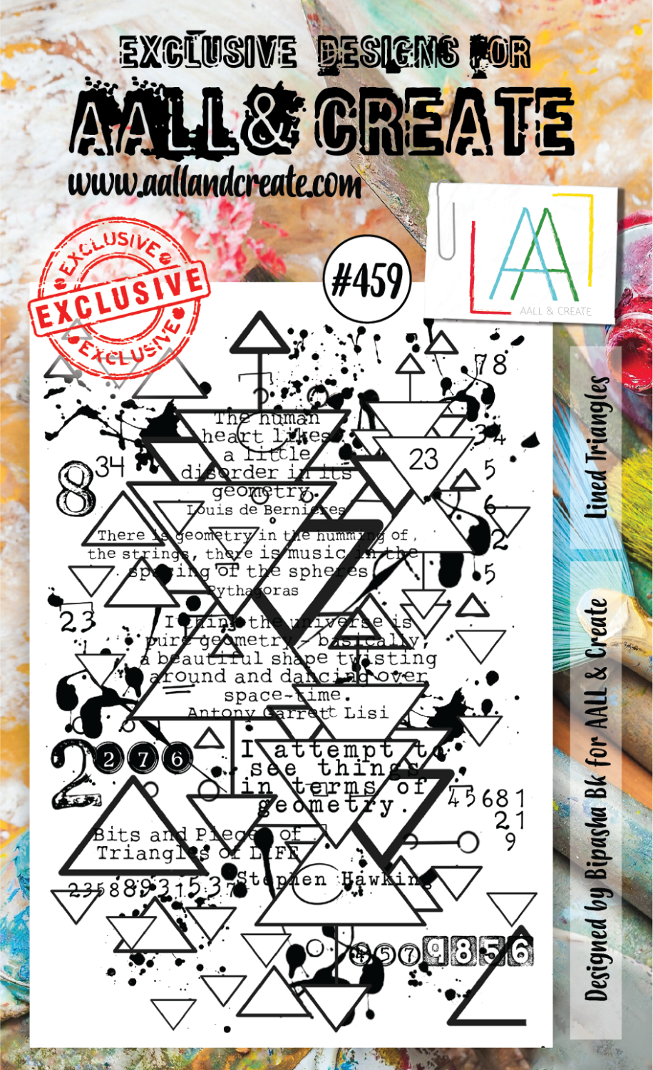 AAll&create - A6 STAMPS - Lined Triangels - #459