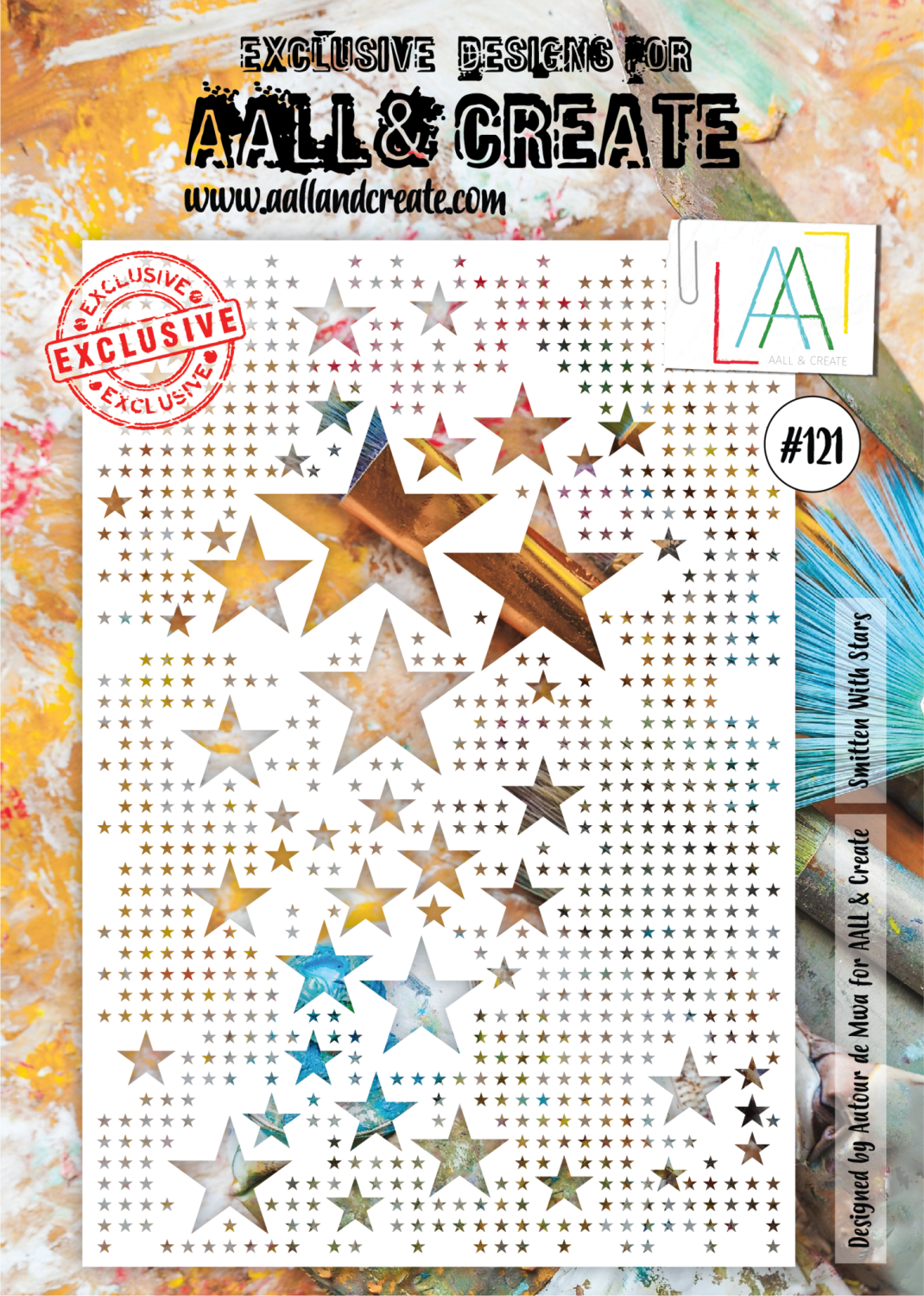 AAll&Create - A4 - #121 - Smitten with stars