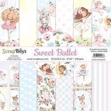 "Scrapboys - Sweet Ballet- Paper Pad - 8 x 8 """