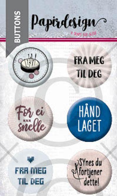 Papirdesign - Buttons - Broderi- PD 2000464