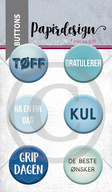 Papirdesign - Buttons - Grip dagen - PD 1900056