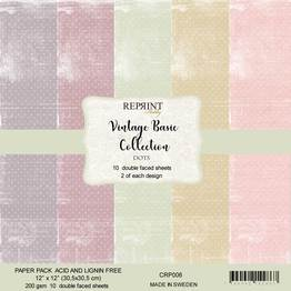 Reprint - 12 x 12 - Vintage basic  - collection pack - Dots