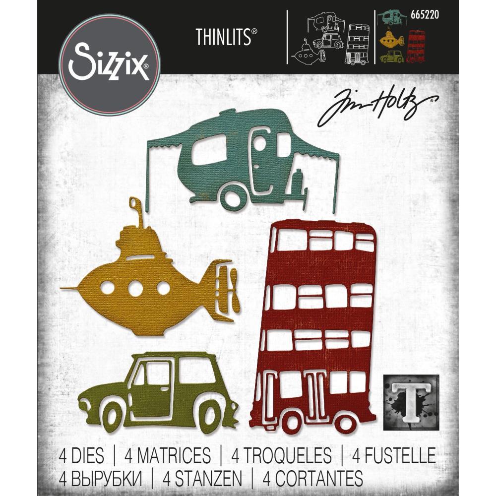 Sizzix Thinlits Dies By Tim Holtz - Wacky Transport #1