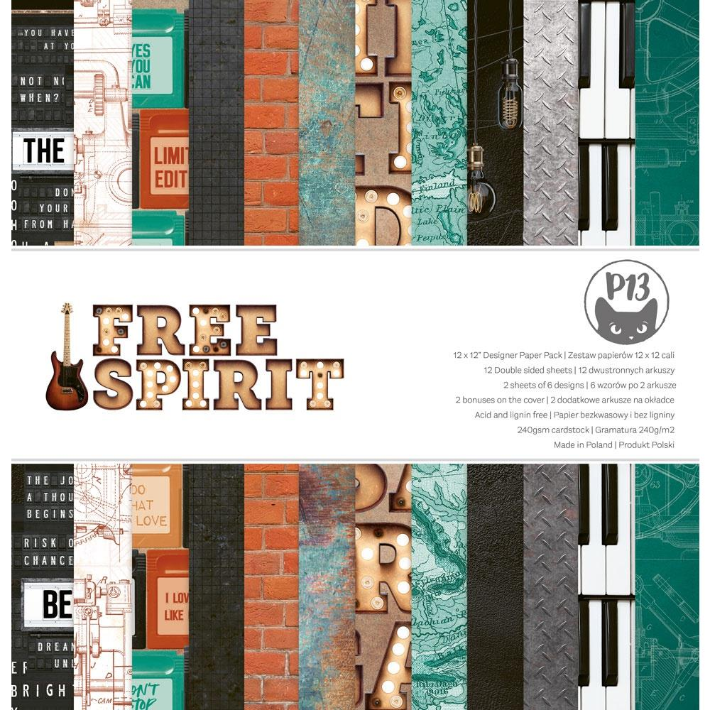 "P13 -Free spirit - Double-Sided Paper Pad 12""X12"" 12/Pkg"