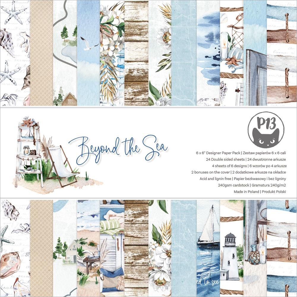 """P13 - Beyond The Sea - Double-Sided Paper Pad 6""""X6"""